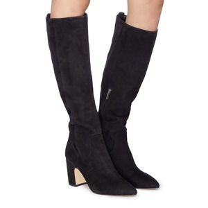Sam Edelman Hai Knee High Boot Black Suede 9